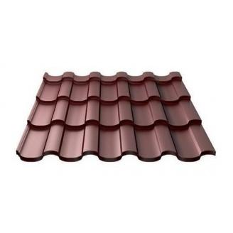 Металлочерепица Ruukki Adamante Pural Matt 0,5 мм шоколадный