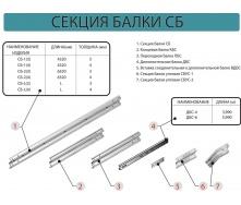 Секция балки без покрытия СБ-1 оцинкованая 4320 мм