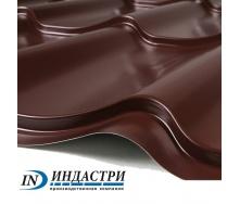 Металлочерепица ПК Индастри Monterrey 0,45x1250 мм 1195/1105 мм матовый полиэстер PEMA RAL 8017