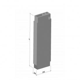 Вентиляционный блок ВБВ 28-2 ТМ «Бетон от Ковальской» 910х300х2780 мм