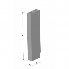 Вентиляционный блок ВБВ 28-1 ТМ «Бетон от Ковальской» 910х300х2780 мм