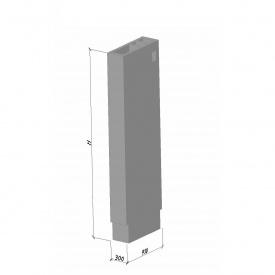 Вентиляционный блок ВБ 30-1 ТМ «Бетон от Ковальской» 910х300х2980 мм