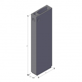 Вентиляционный блок ВБ 3-30-1 ТМ «Бетон от Ковальской» 910х300х2980 мм