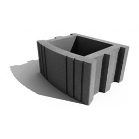 Цветочница квадратная Золотой Мандарин 500х400х250 мм серый