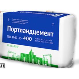 Цемент ПЦ-400 25 кг біло-синій