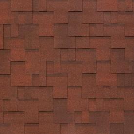 Бітумно-полімерна черепиця Tegola Nobil Tile Акцент 1000х337 мм темно-червоний