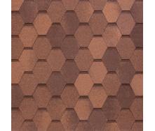 Битумно-полимерная черепица Tegola Nobil Tile Вест 1000х337 мм красно-коричневый