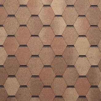 Битумная черепица Tegola Super Mosaic 1000х337 мм кедр