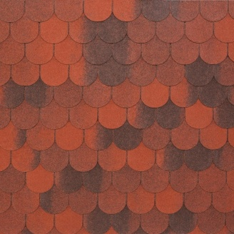 Битумно-полимерная черепица Tegola Nobil Tile Верона 1000х340 мм красный с отливом