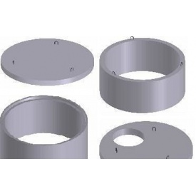 Бетонные кольца колодца КС 10.9 100х90 см
