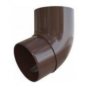 Колено трубы Альта-Профиль Элит 67 градусов 95 мм коричневый