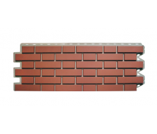 Фасадна панель Альта-Профіль Клінкерна цегла 1220х440х20 мм Палений