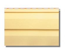 Сайдинг вініловий Альта-Профіль KANADA Плюс Престиж двухпереломний 3660х230х11 мм жовтий