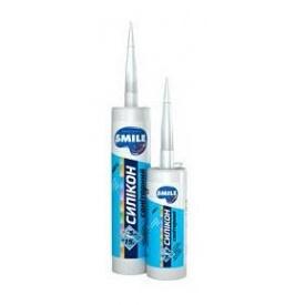 Герметик SMILE силикон санитарный 280 мл прозрачный