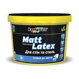 Краска интерьерная Kompozit Matt Latex матовая 9 л снежно-белый
