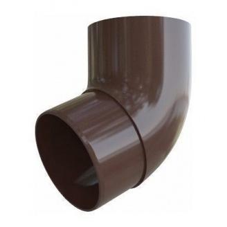 Коліно труби Альта-Профіль Еліт 67 градусів 95 мм коричневий