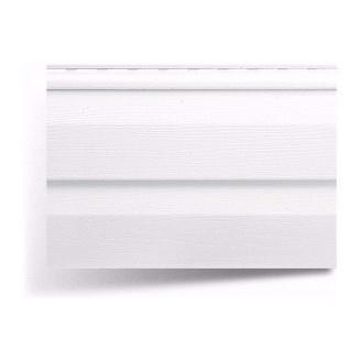 Сайдинг вініловий Альта-Профіль Alta-Siding двухпереломный 3660х230х11 мм білий