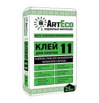 Клей для плитки ArtEco 11 25 кг серый