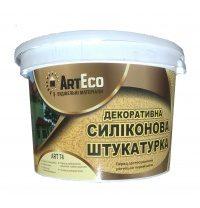Декоративная штукатурка ArtEco Art-74 силиконовая 25 кг белый