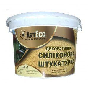 Декоративна штукатурка ArtEco Art-74 силіконова 25 кг білий
