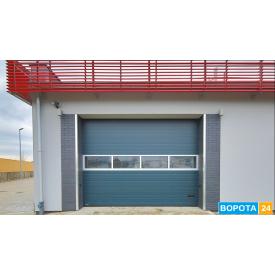 Промышленные секционные ворота Алютех 4500Х3085 мм