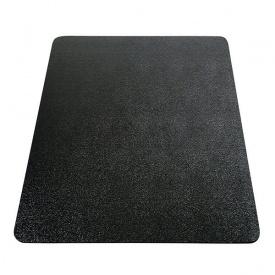 Защитный коврик из поликарбоната Clear Style Black 92х122см черный прямоугольный
