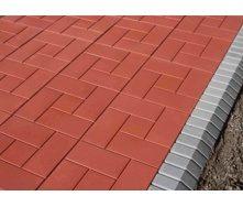 Плитка тротуарная Alex Group 250х250х25 мм красная