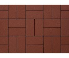 Плитка тротуарная Alex Group гладкая 400х400х50 мм красная