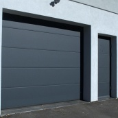 Ворота гаражные секционные Ryterna TLB slick доска RAL 7016
