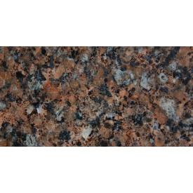 Гранитная плитка Межиричского полированная 300х600х20 мм коричневая