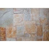 Облицовочный камень Сланец Римская кладка 20 см 15 см 10 см 5 см бежевый