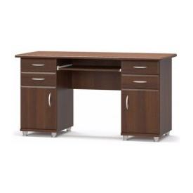 Письменный стол Мебель-Сервис 2-тумбовый МДФ 695х1385х635 мм орех