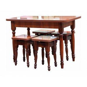 Стол кухонный Мебель-Сервис раскладной 580х745х1100/1480 мм орех