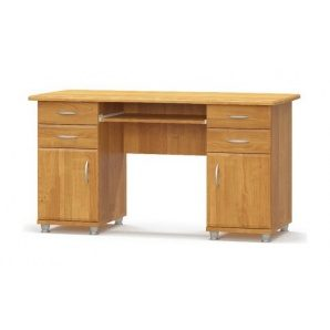 Письменный стол Мебель-Сервис 2-тумбовый МДФ 695х1385х635 мм ольха