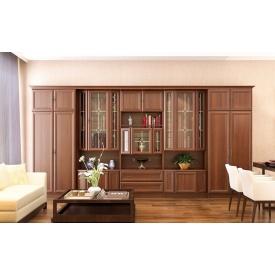 Гостиная Мебель-Сервис Дива 2120х4000х520 мм орех