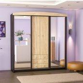 Прихожая Мебель-Сервис Мария 2020х2100х600 мм венге темный/дуб самоа