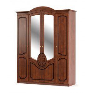 Шкаф Мебель-Сервис Барокко 4Д 600х1790х2250 мм вишня портофино