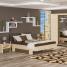 Кровать двуспальная Мебель-Сервис Кантри 923х1716х2117 мм дуб молочный/ривьера трюфель