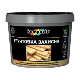 Грунтовка защитная для дерева Kompozit матовая 10 кг белый