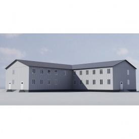 Модульное двухэтажное общежитие 611 м2