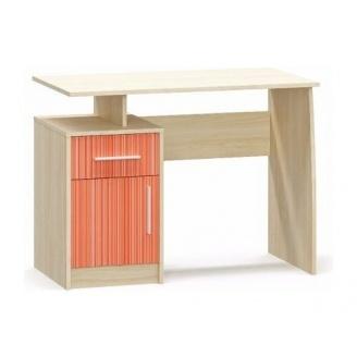 Компьютерный стол Симба береза/красный Мебель-Сервис