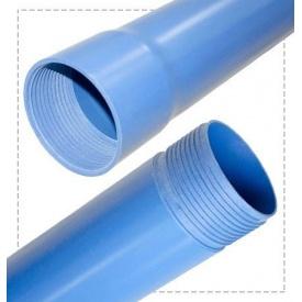 Труба обсадная нПВХ для скважины 5 мм 125 мм 3 м синяя