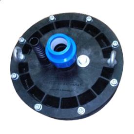 Оголовок для свердловини антивандальний 110 мм з фітингом під трубу 32 мм