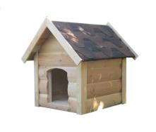 Будка для собаки Мухтар двосхилий блокхауз дошка підлоги 60х65х85 см