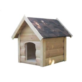Будка для собаки Мухтар двускатная блокхауз доска пола 60х65х85 см