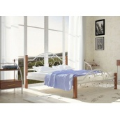 Металлическая кровать Металл-Дизайн Франческа на деревянных ножках 1900х1400 мм