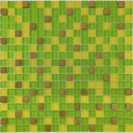 Мозаїка мікс 30х30 см зелений-жовтий-золото (457)