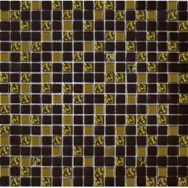 Мозаїка мікс 30х30 см шоколад-рифлене золото (915)