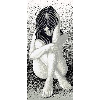 Панно из мозаики Девушка 1200x2600 мм