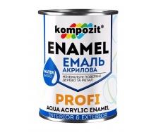 Эмаль акриловая Kompozit PROFI глянцевая 0,3 л красный